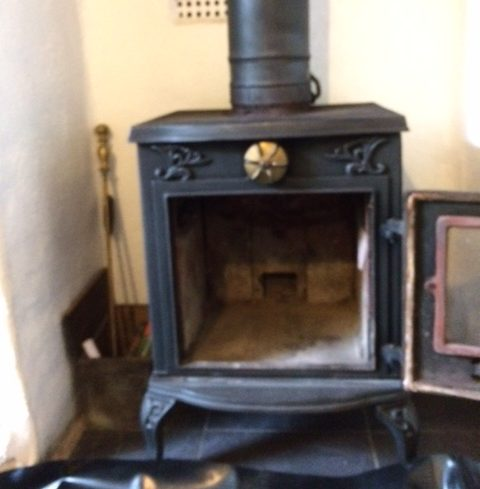 Wood Burner swept Little Treviscoe 15/11/16